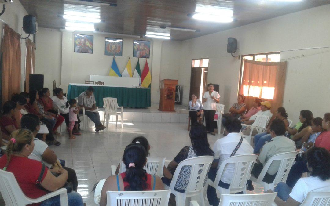 RED CONTRA LA VIOLENCIA EN GUARAYOS ELABORA SU AGENDA DE TRABAJO 2018