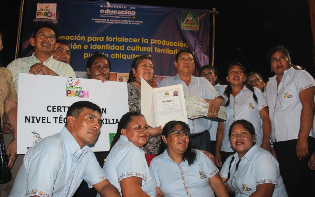 650 MUJERES Y HOMBRES INDÍGENAS CHIQUITANOS FUERON ACREDITADOS EN ESPECIALIDADES TÉCNICAS