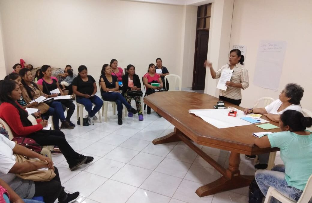 CHIMORÉ:  TALLER DE LIDERAZGO PARA MUJERES YURAKARÉ